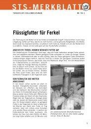 Flüssigfutter für Ferkel - Schweizer Tierschutz STS