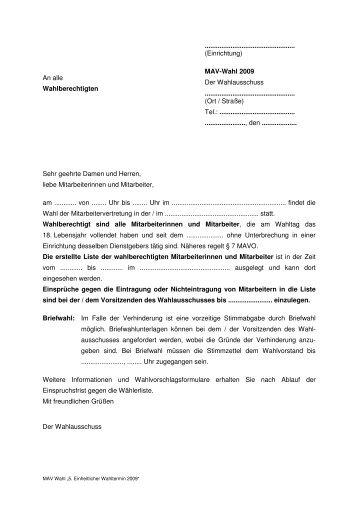 An alle Wahlberechtigten ... - DiAG MAV Mainz