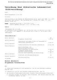 Verordnung über diätetische Lebensmittel (Diätverordnung)