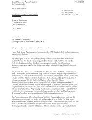 Schreiben von Achim Weyrich und Birgit Michel zur - Moses Online