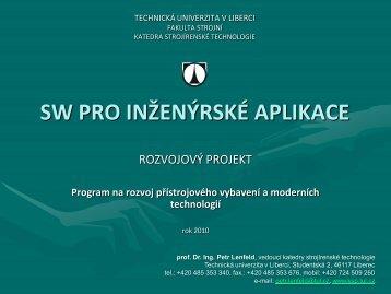 sw pro inženýrské aplikace - Katedra strojírenské technologie ...