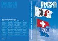 Gruppenkurse mit 1 bis 10 Lektionen pro Woche - Integration Basel