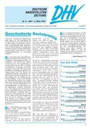 Ausgabe 2-2007 - DHV-Deutscher Handels- und ...