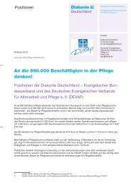 To Do-Liste Beschäftigte in der Pflege: Positionen - Diakonie ...