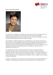 Prof. Dr. Renate Dendorfer Dr. Dendorfer is admitted as an Attorney ...
