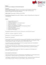 Ausführliche Beschreibung der einzelnen Module - DHBW ...