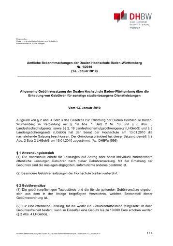 1_2010_Gebuehrenordnung.pdf - Duale Hochschule Baden ...