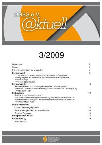 3/2009 - Deutsche Gesellschaft für Sprechwissenschaft und ...