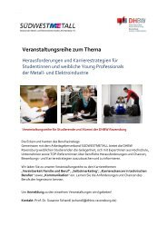 Veranstaltungsreihe zum Thema - DHBW Ravensburg