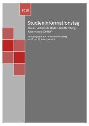 Studieninformationstag - DHBW Ravensburg