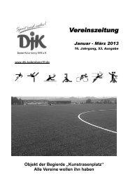 Vereinszeitung Januar - März 2013 - DJK Essen-Katernberg 1919 eV