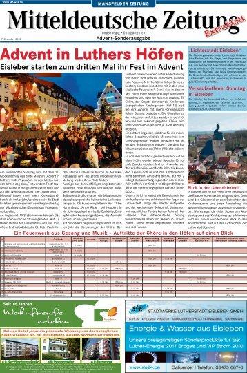 Advent in Luthers Höfen - Mitteldeutsche Zeitung