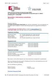 Newsletter: Informations actualisées - Deutsche Gesellschaft für ...