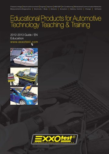 Educational Products for Automotive Technology ... - Exxotest
