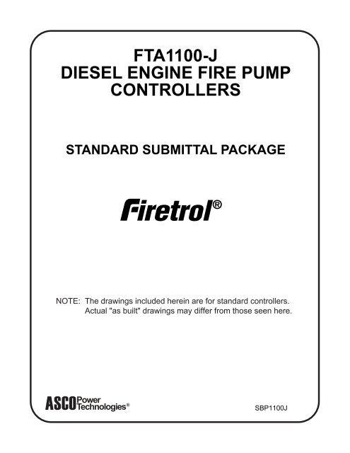 Fta1100 J Diesel Engine Fire Pump Controllers Emerson
