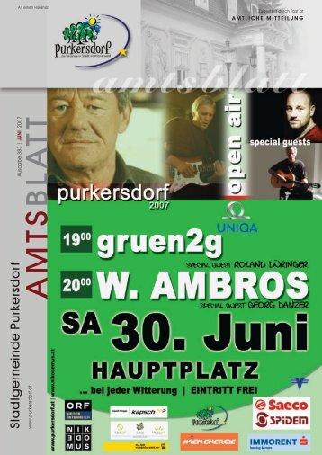 Programm Jakobimarkt - Purkersdorf