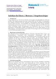 Infoblatt für Eltern / Betreuer / Sorgeberechtigte - Diakonie Leipzig
