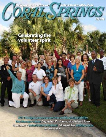 Celebrating the volunteer spirit - City of Coral Springs