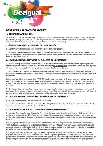 BASES DE LA PROMOCIÓN SPOTIFY - Desigual