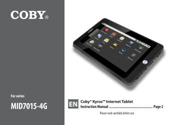 MID7015-4G - COBY Electronics