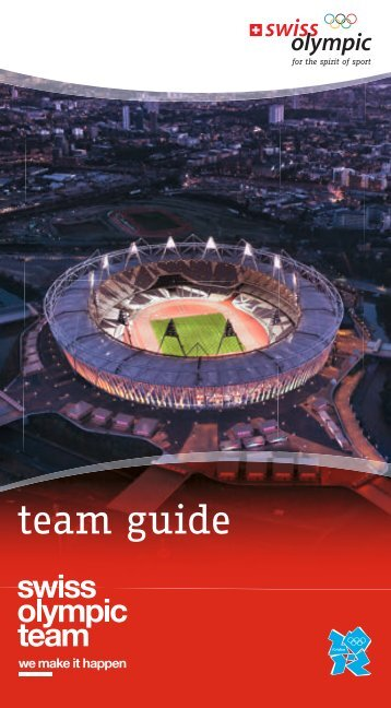 team guide - Swiss Olympic