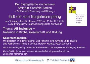 lädt ein zum Neujahrsempfang - Ev. Kirchenkreis Steinfurt-Coesfeld ...