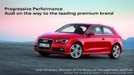 Presentation by Axel Strotbek (3 MB) - Audi