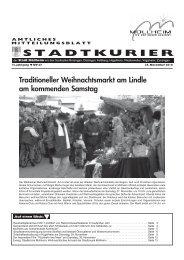 Traditioneller Weihnachtsmarkt am Lindle am ... - Stadt Müllheim