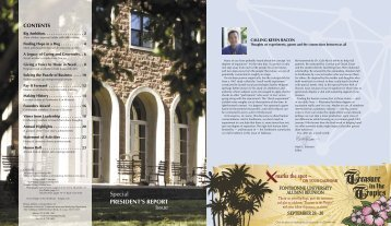 Special PRESIDENT'S REPORT Issue - Fontbonne University