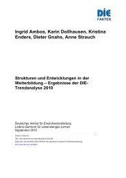 Strukturen und Entwicklungen in der Weiterbildung - Deutsches ...