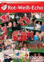 Festschrift zum 90-jährigen Jubiläum - SV Rot-Weiß Hasborn
