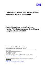 Ergebnisbericht zur ersten Erhebung monitor Alphabetisierung und ...