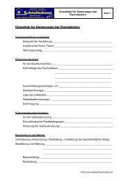 Checkliste für Sanierungen bei Flachdächern