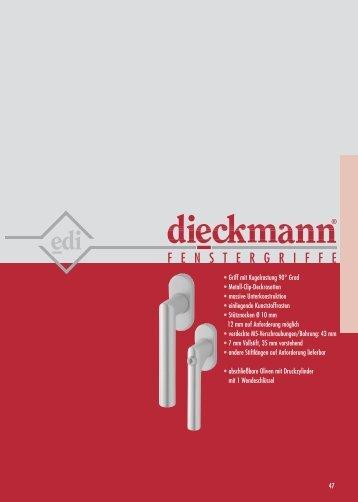 F E N S T E R G R I  F F E - Dieckmann