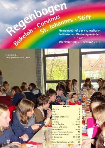 Regenbogen 1 / 2013 Dezember - Februar - Luth. Kirchengemeinde ...