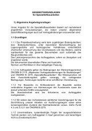ANGEBOTSGRUNDLAGEN für Spezialtiefbauarbeiten 1) Allgemeine