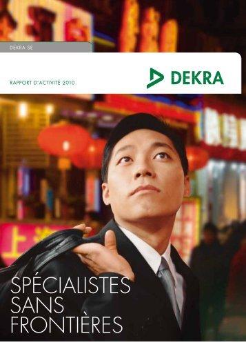 Rapport annuel activité DEKRA 2010 - DEKRA Industrial