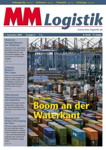 Boom an der Waterkant - MM Logistik