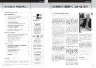 BEHINDERUNG IM ALTER - Dienststelle für Personen mit ...