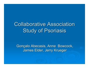 Collaborative Association Study of Psoriasis