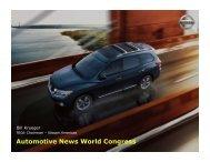 Bill Krueger Vice Chairman ? Nissan Americas - Automotive News