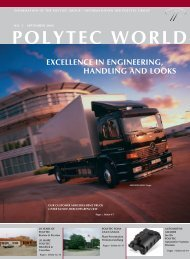 polytec world excellence in engineering, handling and looks