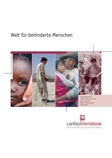Welt für behinderte Menschen - Caritas international
