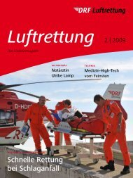 Schnelle Rettung bei Schlaganfall - DRF Luftrettung