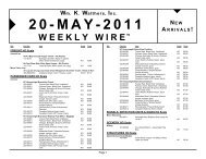 Wm. K. Walthers, Inc. WEEKLY WIRETM 20-MAY-2011 - Con-Cor