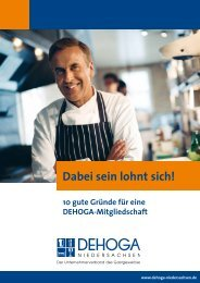 Vorteile auf einen Blick - Deutsch - DEHOGA Niedersachsen