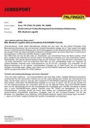 BKL Baukran Logistik setzt auf bewährte PALFINGER-Technik