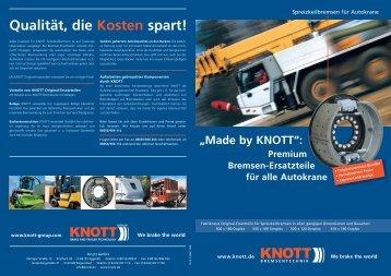 """""""Made by KNOTT"""": Premium Bremsen-Ersatzteile für alle Autokrane"""