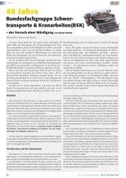 40 Jahre Bundesfachgruppe Schwer- transporte ... - KM-Verlags