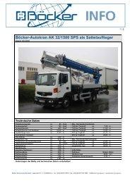 Böcker-Autokran AK 32/1500 SPS als Sattelauflieger